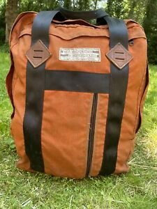 WE Vintage 70s 80s Wilderness Experience  Backpack Leather Canvas