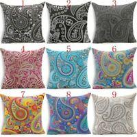 "18""Bohemian Geometric Paisley Mandala Throw Pillowcase Cushion Cover Pillow Case"