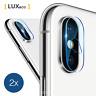 2 x iPhone X / XS / Max XR caméra 9H protection verre film arrière lentille
