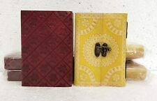 Leather Journal Diary Notebook Handmade Blank Paper Travel Notepad Lot of 6