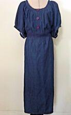 New Denim 247 dress woman plus 24W blue crochet waist casual cute peasant size