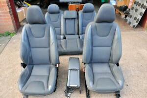 Volvo S60 mk2 R-Design saloon set of seats half leather black heated