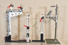 More details for kit built o gauge group of 4 brass track side signal nv