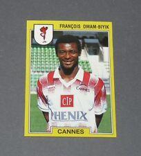 N°45 F. OMAM-BIYIK CAMEROUN AS CANNES LA BOCCA PANINI FOOTBALL FOOT 92 1991-1992