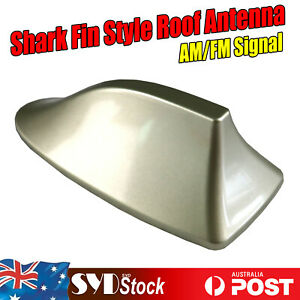 Amazing Shark Fin Design Gold Roof Antennas Wide Compatibility Fit Vehicle Car
