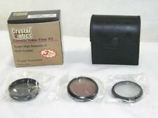 CRYSTAL OPTICS DIGITAL/VIDEO 3 PIECE LENS 49MM FILTER KIT-UV-PL-F-DL-ORIGINAL BX
