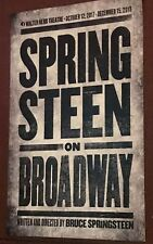 OFFICIAL BRUCE SPRINGSTEEN BROADWAY POSTER NYC LIMITED RARE FINAL DATED DEC 15