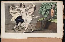 A Morman & His Wives Dancing To The Devil's Tune 1850 Erotic 12x8 Inch Reprint
