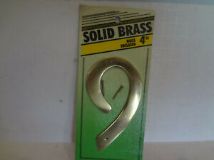 """HyKo 4"""" Solid Brass House Number """"9"""""""