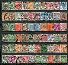 MALAYA - STATES - 1891 to 1951 - COLLECTION OF 60 STAMPS - VERY GOOD USED