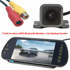 "US-7"" MP5 Bluetooth Car Rearview Mirror Monitor+ HD 420TVL Reverse Backup Camera"