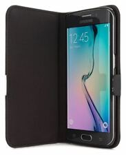 Samsung Galaxy S6 Edge Leather Style Folio Case / Cover / Stand - Black