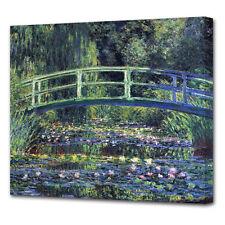 CLAUDE MONET LE NINFEE Lily ponte di stagno Giverny tela ART PICTURE PRINT v2