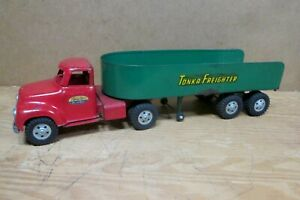 """1955 TONKA FREIGHTER  Tractor Trailer Truck, All Original, 23.5"""" Long, FORD"""