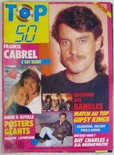 Revue TOP 50 Septembre 1989 David Hallyday Francis Cabrel Bangles