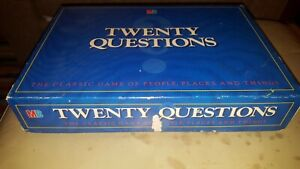 Twenty Questions Board Game By MB Games Complete With Instructions Vintage 1988