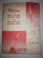 1960'S LOT OF FORT BLISS AND U.S. ARMY AIR DEFENSE CENTER INFO & MORE - TUB OFC