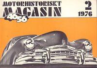 Motorhistoriskt Magasin Swedish Car Magazine 2 1976 Manhattan 032717nonDBE