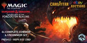 Magic MTG - D&D Adventures in the Forgotten Realms - 4x Common & Uncommon Set x4