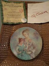 Vintage Limoge Guy Cambier Mother Daughter Son Plate D'Arceau