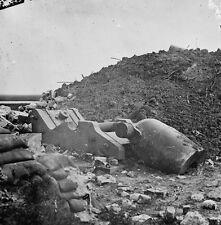 Fort Pulaski Savannah Georgia Destroyed Mortar Cannon 8x10 US Civil War Photo