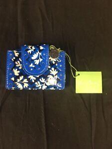 Vera Bradley Wallet Pretty and Petite Card Holder Blue Lagoon with Slip Pockets
