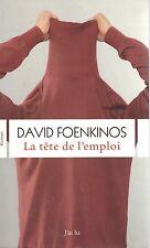 DAVID FOENKINOS LA TETE DE L'EMPLOI + PARIS POSTER GUIDE