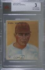 1933 Goudey Big League Chewing Gum R319 Earl Whitehill #124 BVG 3 Rookie