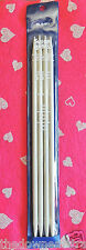 "4pc Susan Bates #Q1411 * 10"" Double Point Plastic KNITTING NEEDLES US 10-1/2 New"