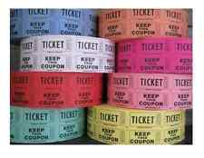 Lot 145 TICKETS fête DOUBLE COUPON tombola Loto club déco mariage cotillon DJ