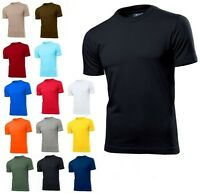Hanes or Stedman Mens Plain Slim Fitted Fit-T Cotton Tshirt Tee T-Shirt