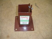 FENCE POST SUPPORTS. BOLT DOWN TYPE FOR 100mm x 100mm POST.  NEW STOCK.