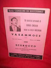 CONSOLINI Vasammoce (Musica F. ZAULI) + Scerocco Rocca/Di Giovanni 1958 Spartiti