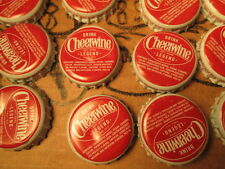 50 PIECES CHEERWINE BOTTLE USED METAL CAPS (HAS DENTS) USA (YEAR 2014-2015)
