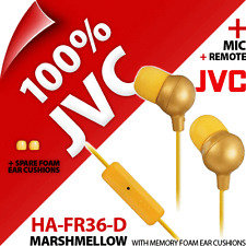 New JVC HA-FR36-D Marshmallow Headphones Earphones Ear For iPhone 4S 5 5S 6 iPod