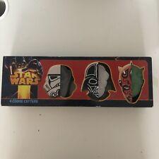 Star Wars Villains Four Cookie Cutters - Rare ( Box Has Slight Wear )