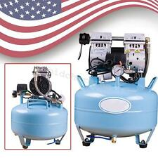 USA Noiseless Oilfree Oilless Air Compressor motor For 1pc dental chair 30L 550W