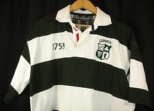 Guinness Official Merchandise Mens Rugby Jersey Green White Short Sleeve XL
