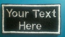 Personalised name, patch, emblem, badge. Iron-on/sew-on 100mm x 50mm x 3 patches