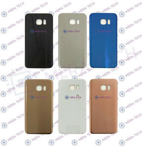 Rear Back Battery Cover Glass For Samsung Galaxy S7 Edge SM-G935F With Adhesive