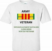 90TH REPLACEMENT BATTALION * SOUTH VIETNAM * VIETNAM VETERAN RIBBON SHIRT/SWEAT