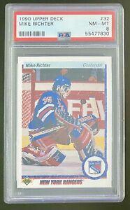 1990 Upper Deck #32 MIKE RICHTER PSA 8 NM-MT Rangers RC