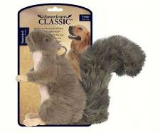 AMERICAN CLASSIC LARGE PLUSH SQUIRREL DOG TOY w/SQUEAKER, Safe and Durable