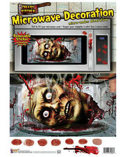 Removable Bloody Kitchen Microwave Monster Sticker Halloween Decoration