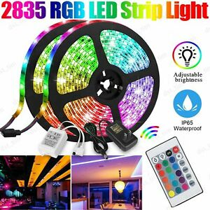 16.4FT 5M RGB Flexible 300 LED Strip Light 2835 SMD Fairy Lights Room TV Party