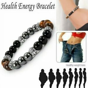 Magnetic Healing Tiger Eye Hematite Bracelet Bangle Pain Relief Weight Loss Gift