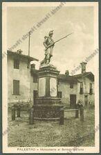 PAVIA PALESTRO 13 MONUMENTO AL SOLDATO ITALIANO Cartolina viaggiata 1923