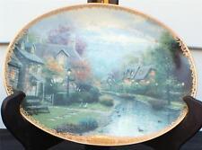Vintg 1994 Thomas Kinkade Lamplight Village #1Seried Lamplight Brook Décor Plate