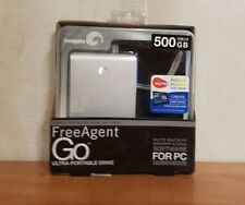 Seagate FreeAgent Go 500 GB USB 2.0 Portable External Hard Drive (Silver)