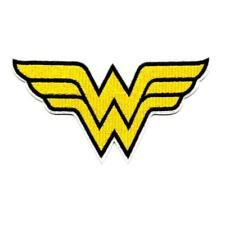 """WONDER WOMAN IRON ON PATCH 5.5"""" Embroidered Applique Superhero WW Yellow NEW"""